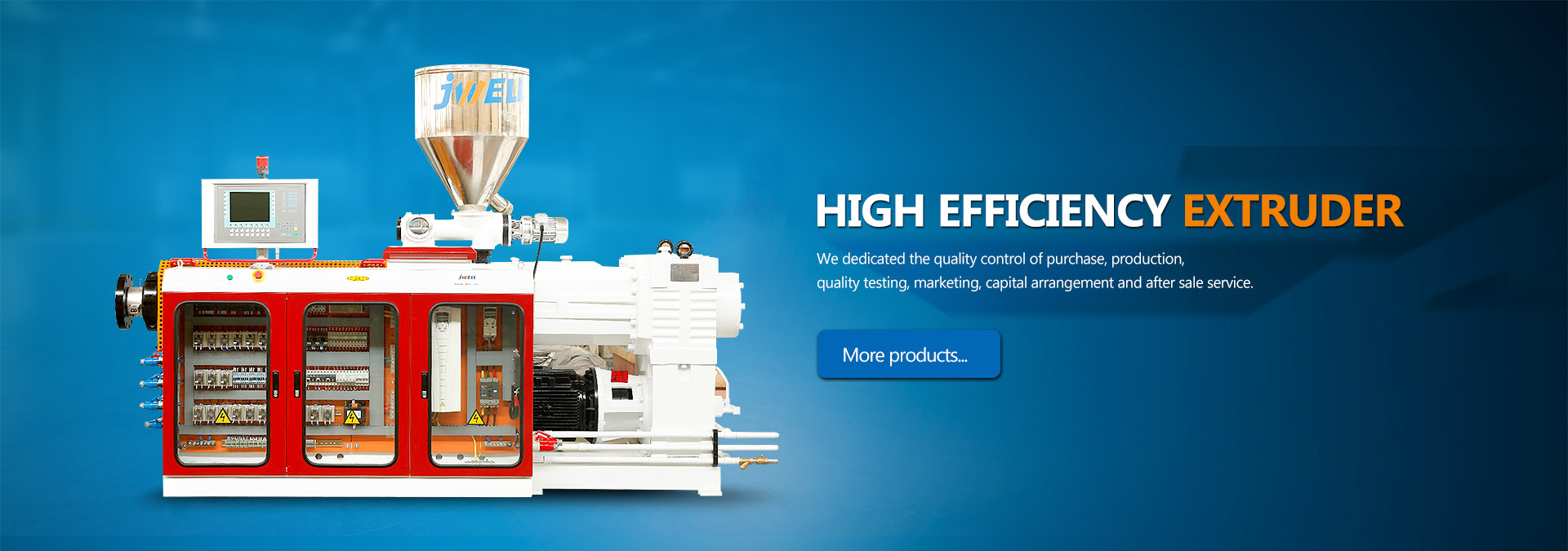 High efficiency extruder