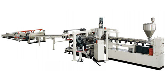 PC, PMMA, GPPS Plastic Sheet & Plate Extrusion Line