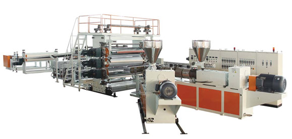PP & Wood Powder、Bamboo Powder And Fiber Composite Sheet Extrusion Line