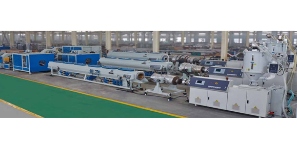 Common Diameter HDPE Pipe , PP Chemical Usage Pipe and MPP Electrical Wire Protection Pipe Extrusion Line