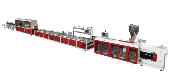 Plastic And Wood Profile And Plate Extrusion Line