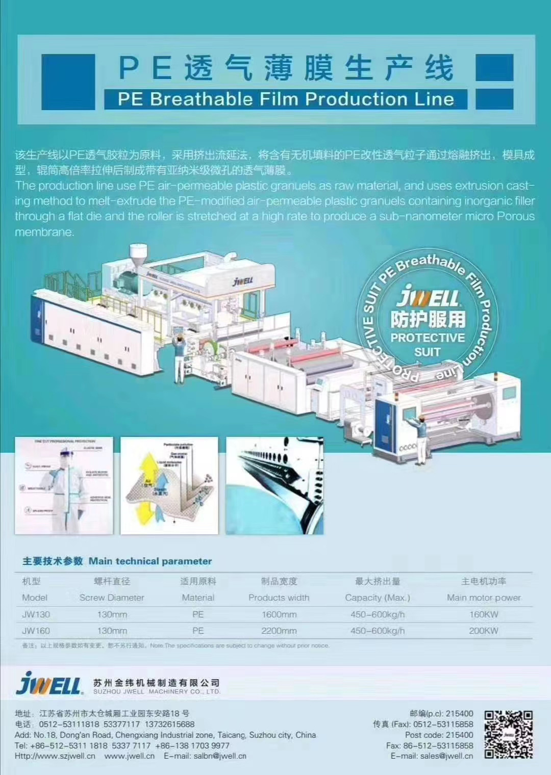PE breathable film extrusion machine Featured Image